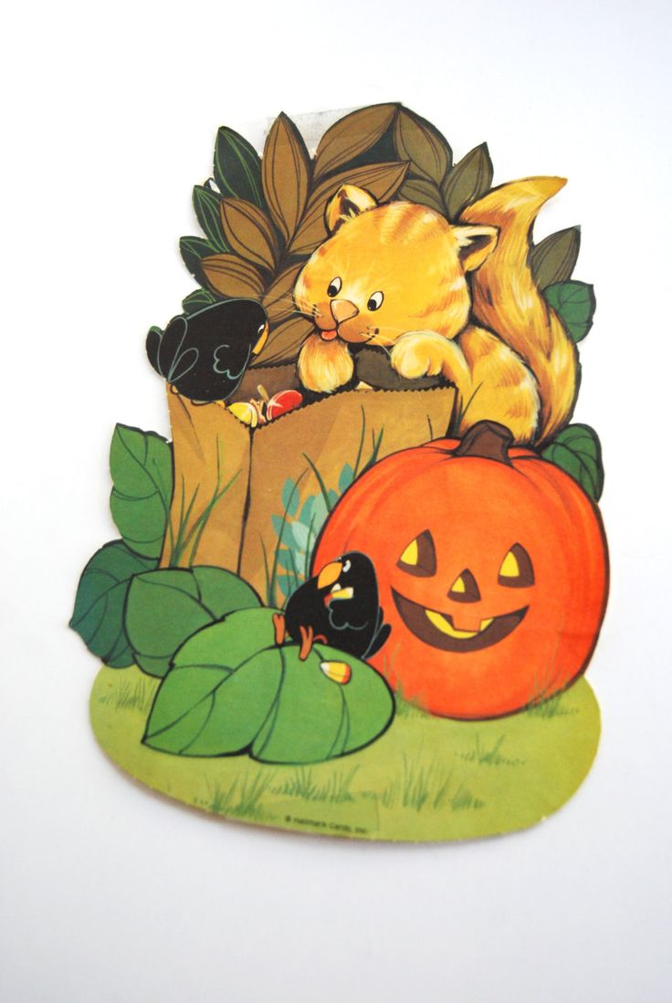 Vintage halloween paper decorations - Vintage Halloween Paper Wall Decor By Hallmark