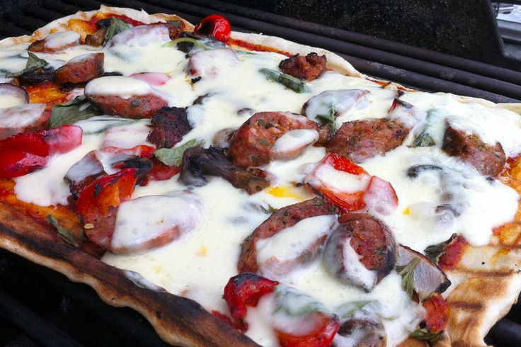 Grilled Sausage & Vegetable Pizza