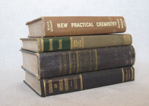 Vintage Chemistry Textbook Bundle by Bookmosaic on Etsy