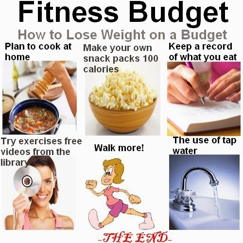 How to lose weight on a budget.
