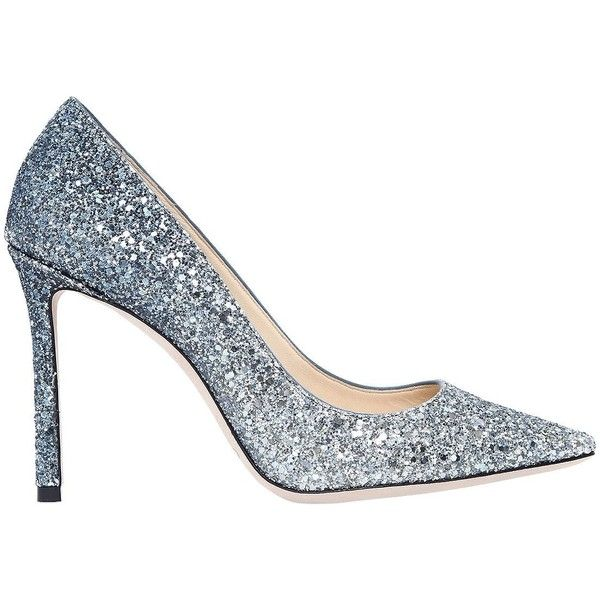 Jimmy Choo Women 100mm Romy Gradient Glittered Pumps (4,640 CNY) ❤ liked on Polyvore featuring shoes, pumps, pointy toe shoes, pointed toe high heels shoes, pointy toe high heel pumps, jimmy choo shoes and glitter high heel pumps