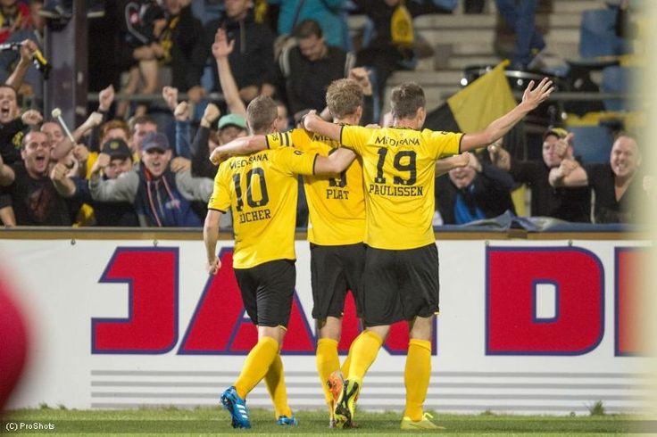 Fotoverslag Telstar - Roda JC Kerkrade 15 augustus 2014   Marc Höcher, Johan Plat en Mitchel Paulissen