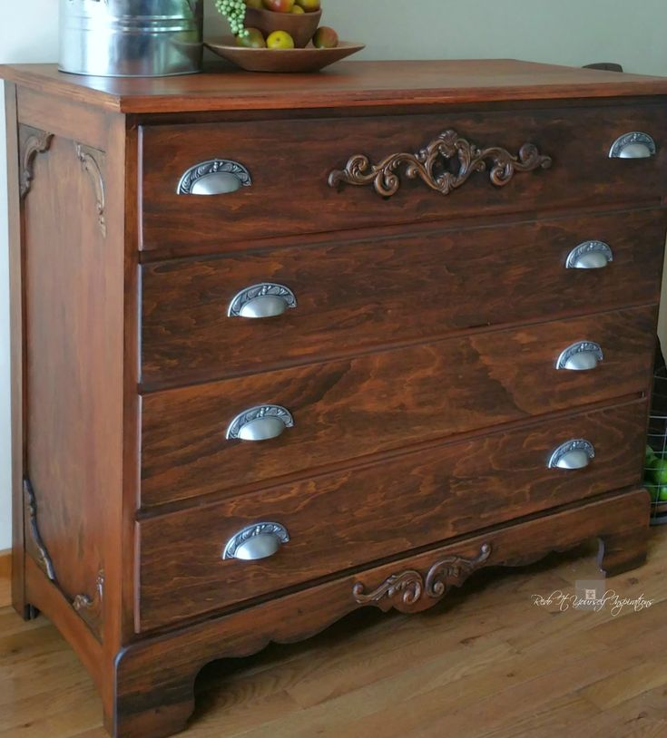 Plain to Classy Antique Chest of Drawers Redo | Redo It Yourself Inspirations…