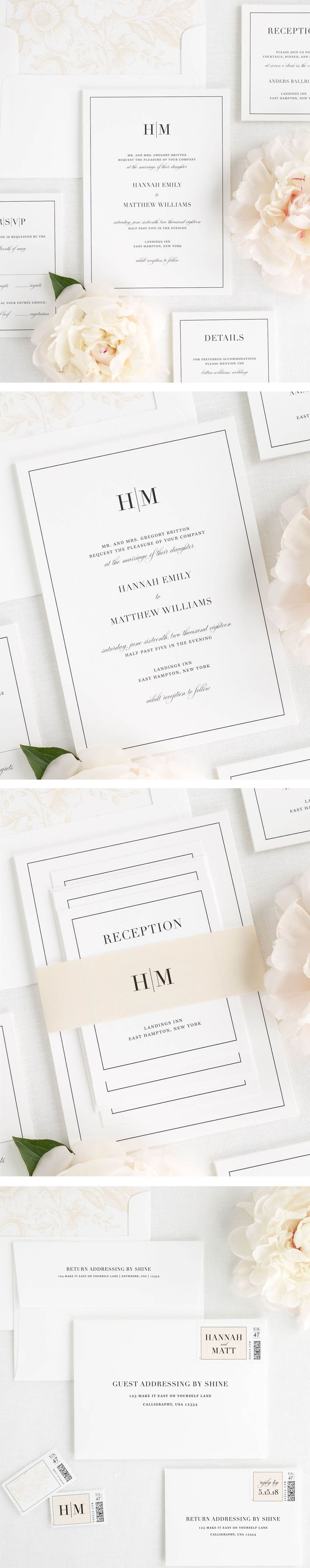 Classic, timeless, and customizable wedding invitations. Request a free sample today.