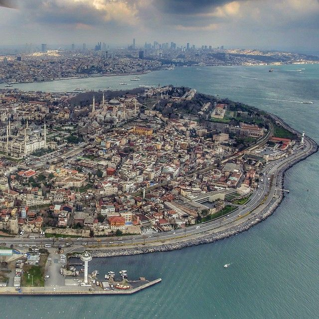 """Old City"" ISTANBUL, Turkey. ~ this is the old city ""tarihi merkez"" from the sky. thanks to emrkrm for sharing this fantastic shot with us. well done!"
