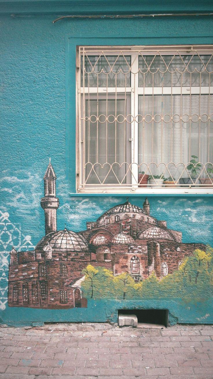 The Selimiye Mosque wall art on Konya/Turkey