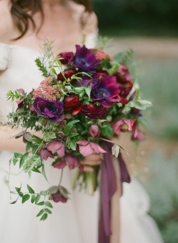 Garden Wedding Inspiration in Berry tones