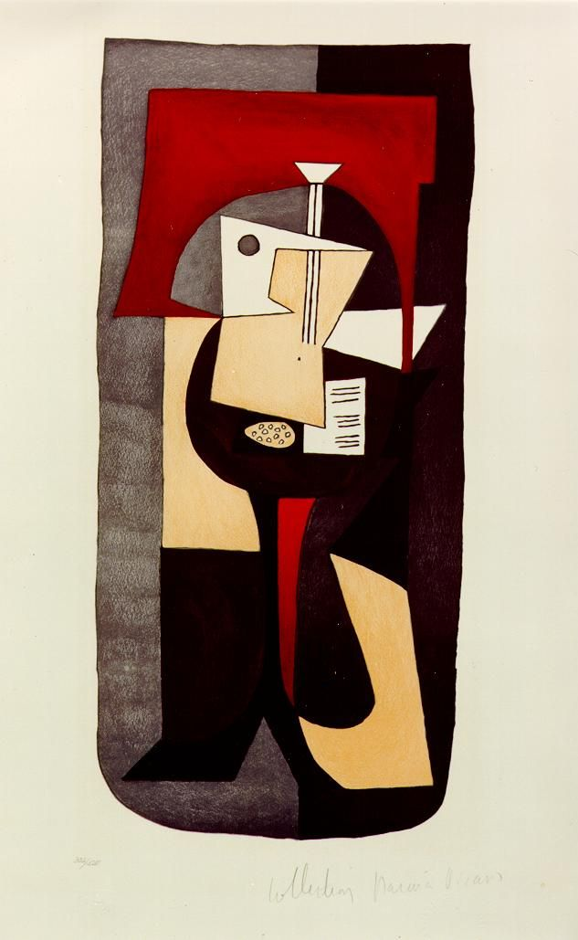 Pablo Picasso, Guitar on pedestal, 1920