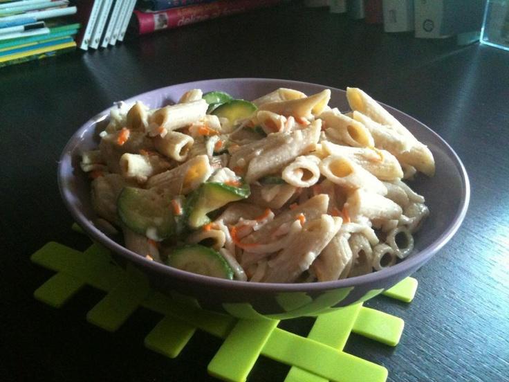 """""""Pasta di kamut con burrata, zucchine e granchio""""  trovate la ricetta qui - find the recipe here ---> http://www.facebook.com/media/set/?set=a.121624294591004.32210.121609514592482=3#!/photo.php?fbid=334453943308037=a.121624294591004.32210.121609514592482=3"""