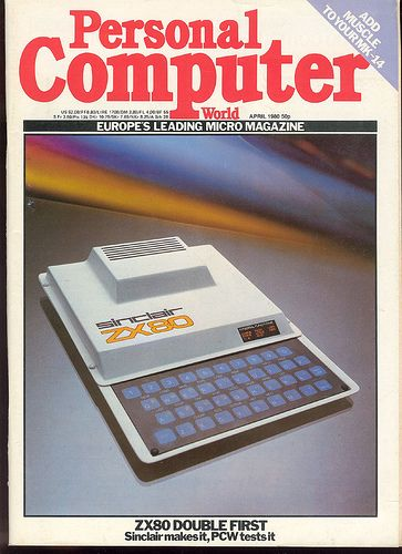 Sinclair ZX80 on the Cover of Personal Computer World (April 1980)