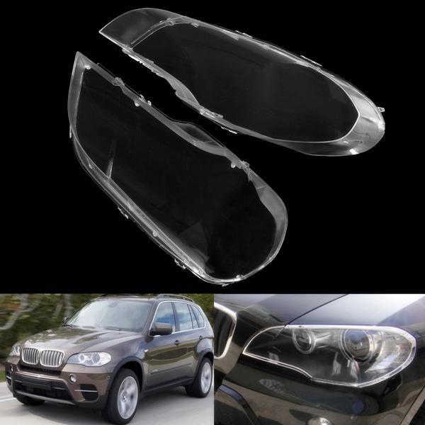 2pcs Clear Plastic Headlight Cover Lens Lampshade For Bmw 2008 2013 X5 E70 Headlight Covers Bmw Car Covers
