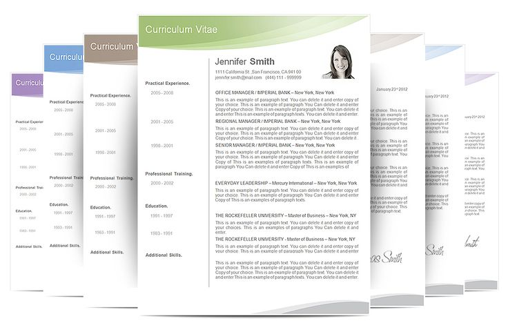 Iwork Resume Templates The Best Cv Resume Templates  Examples