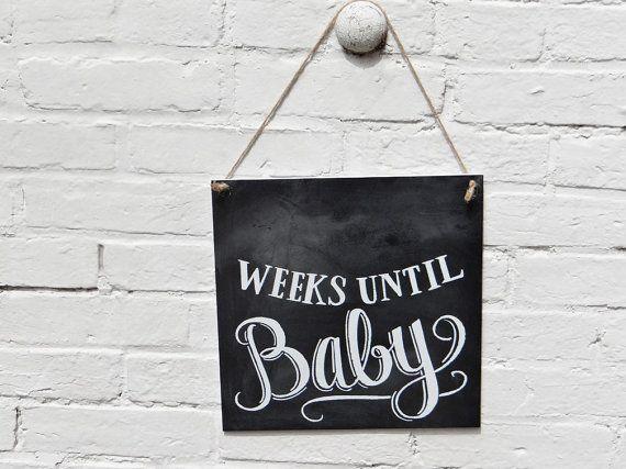 Baby Countdown Sign  Baby Chalkboard  Chalkboard Art by LilyandVal, $45.00