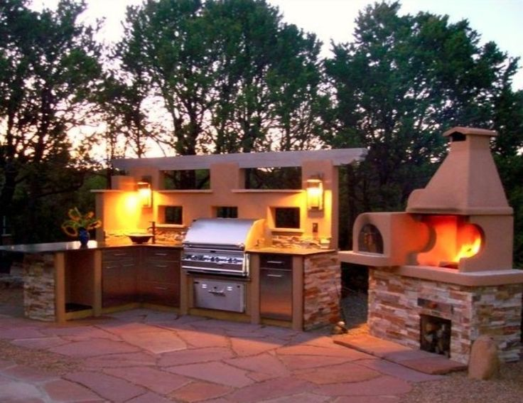 Beautiful This Santa Fe, NM House Has A Spectacular Outdoor Kitchen With Wood Burning  Pizza Oven