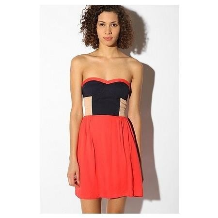 Urban outfitters sparkle and fade colorblock dress