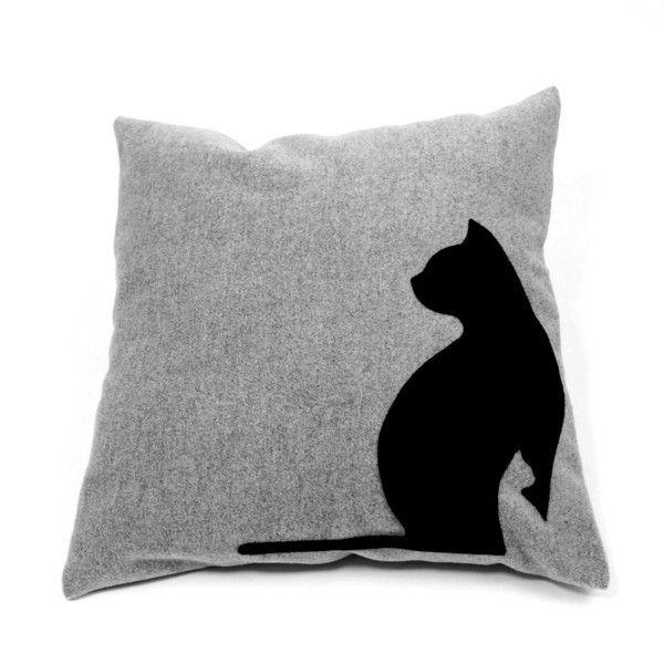 """Kissen - Design-Katzenkissen """"black cats"""", Wolle,Dekokissen - ein Designerstück von myPartytrends bei DaWanda"""