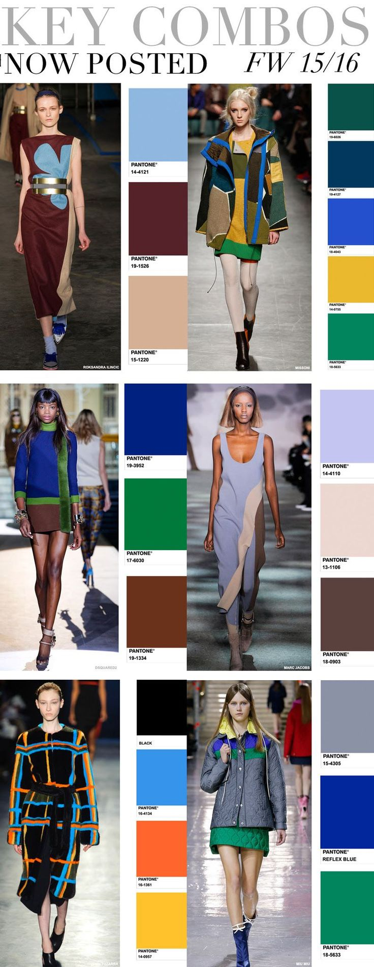 Trend Council:  KEY COLOR COMBOS - FW 15/16