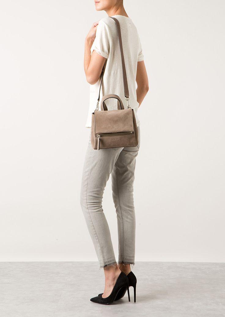 Givenchy Shoulder bags :: Givenchy Pandora Pure Mini taupe suede bag   Montaigne Market