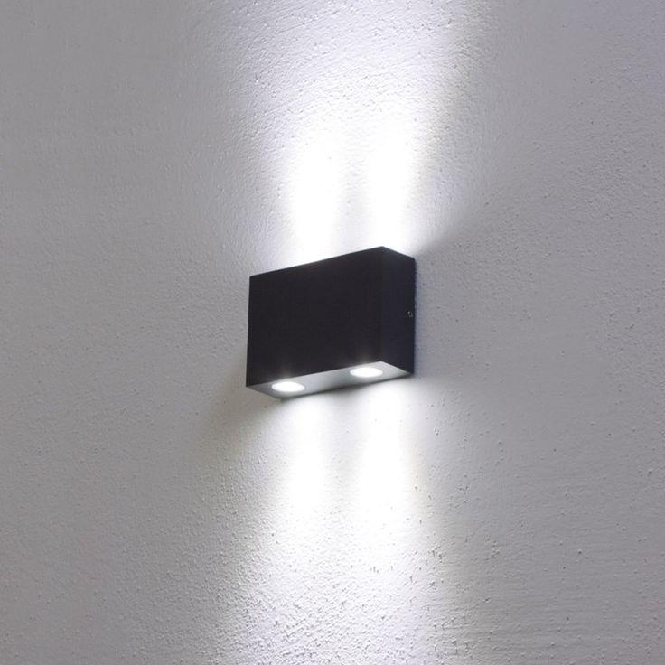 LEDWandleuchte kaltweiß, 4W, graphitgrau, Außenbereich