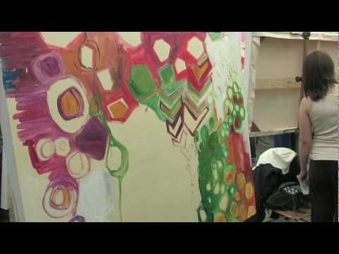 Great video on how to use collage as a stepping stone to painting...