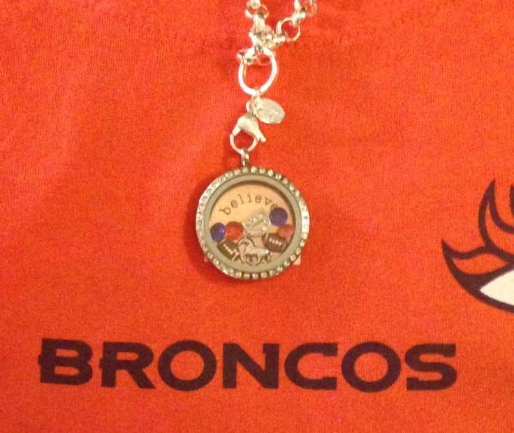 Love my Broncos! Get ready for football season with  your own living locket by Origami Owl! www.MLW71.OrigamiOwl.com