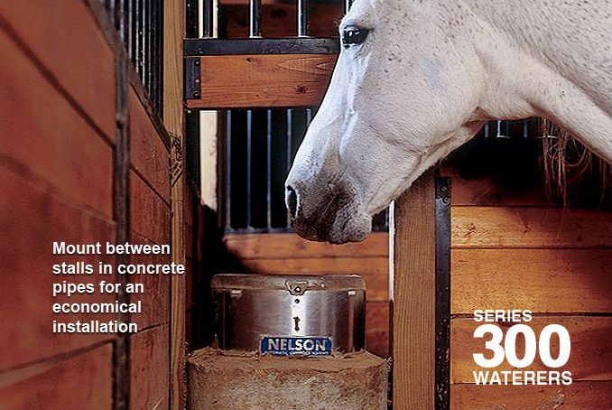Automatic Horse Waterers | Nelson Mfg 300 Series | IA