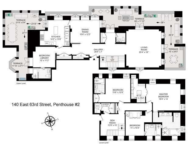Pin by tracy boyd on floor plans pinterest penthouses for Upper east side penthouses for sale
