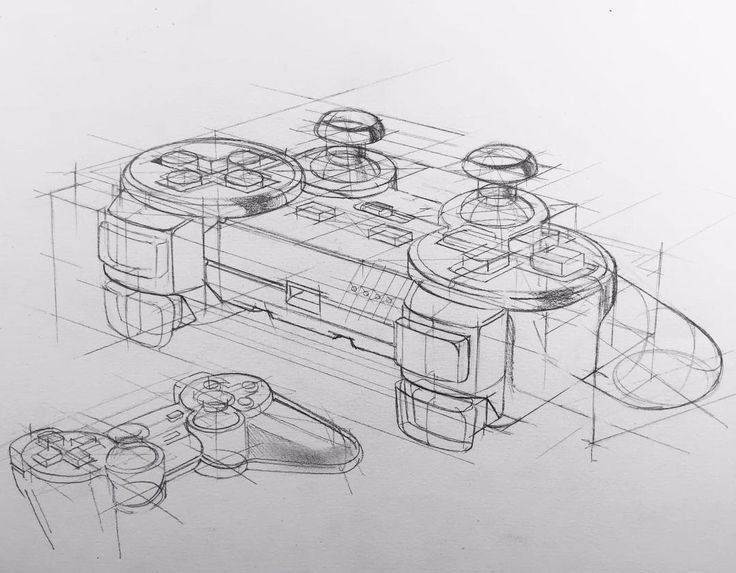 how to draw a playstation controller