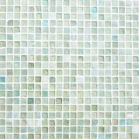 イリジウムガラスモザイクのアーバンライム15mm角(緑色ガラスモザイクタイル)