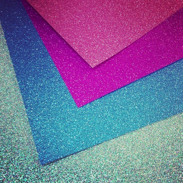 Glitter paper (that doesn't shed!) in store now at The Paper Empire. The crafting possibilities are endless! Plenty more colours available in store. www.thepaperempire.com.au