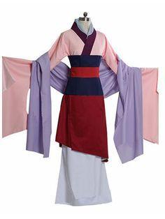 Custom Princess Mulan Costume for adults and Kids