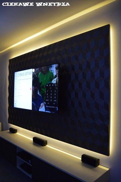 Oświetlenie led ściany TV.Lighting LED TV wall.