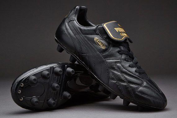 Puma King Top K di FG - Black/Black/Black/Gold
