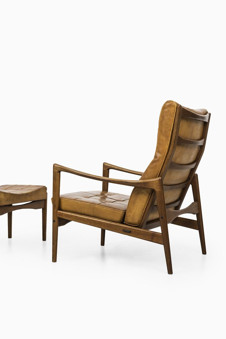 Wooden easy chair models - Rare Easy Chair Model Ren S And Stool Model Siesta Designed By Ib Kofod Larsen And Produced By Ope In Sweden