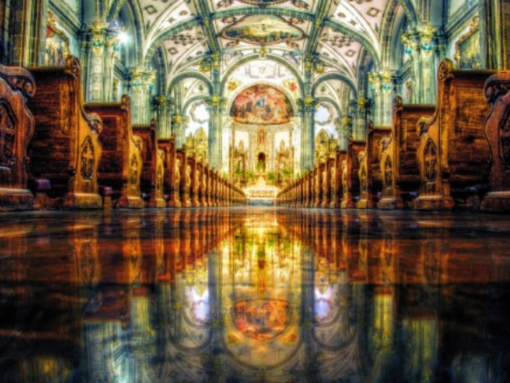 Coyoacan. Mexico City. Cathedral interior