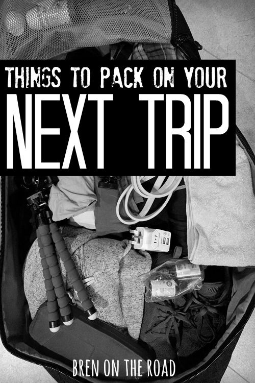 Traveling soon? Make sure you're prepared. Here's a list of handy things to pack that you might have forgotten. Safe travels!