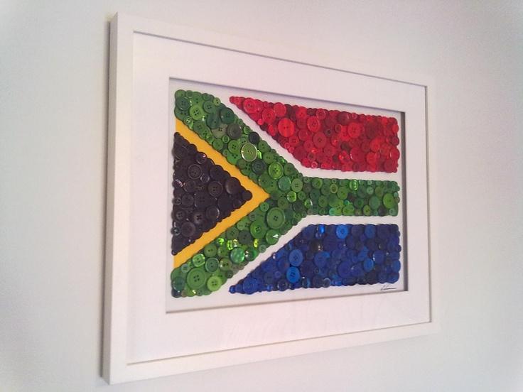 """""""Buttons of the World - South Africa"""" www.facebook.com/buttonartbybecky"""
