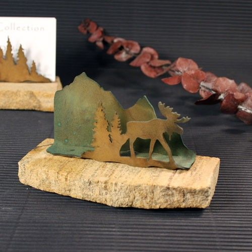 23 best moose business card holder images by moosteria on business card holder patina metal and sand stone stonegifts colourmoves
