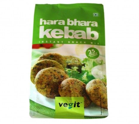 Vegit Hara Bhara Kebab Instant Snack Mix 120G at Rs.50 online in India.