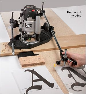 router pantograph this works great for sign making just trace your stencil it takes a little bit of practice but is easy to use it w