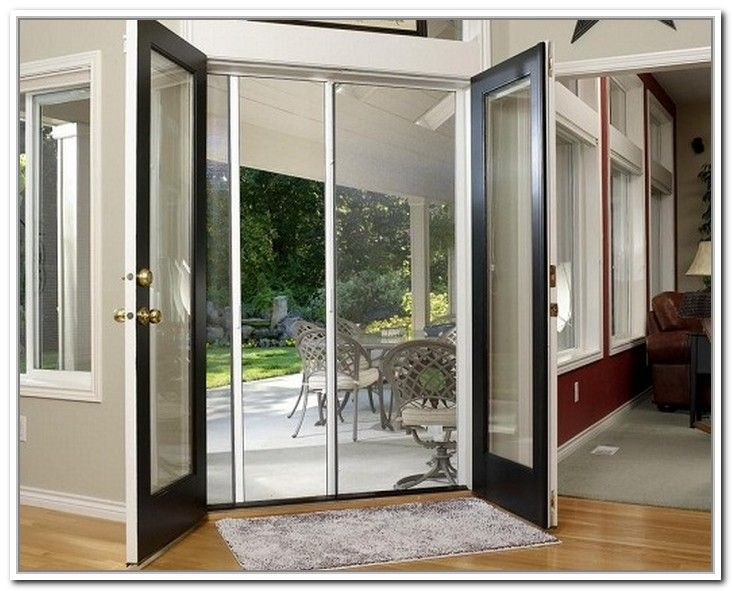 Best 25+ French Doors With Screens Ideas On Pinterest | Exterior French  Doors, Beach Style Patio Doors And Double Screen Doors