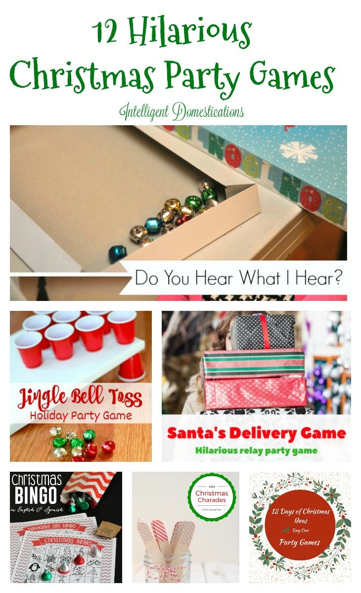 If you are looking for creative ways to have fun this Christmas season here's 12 hilarious Christmas party games that the whole family is sure to love!