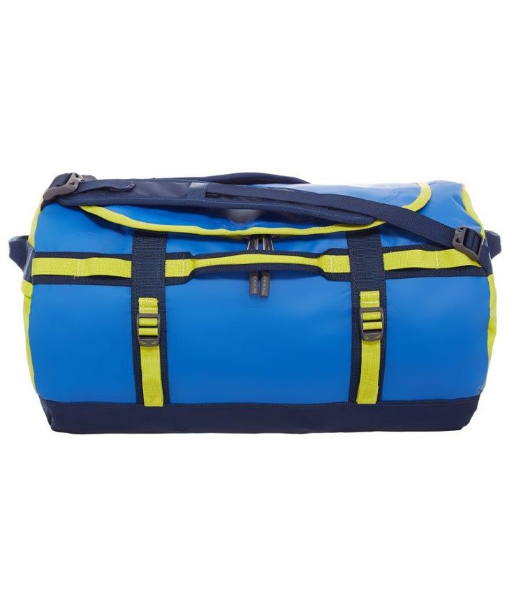 De sejeste North Face Base Camp Duffel S, CWW3-DHZ, Monster blue/Vemon yellow  Rejsetasker til Kufferter i dejlige materialer