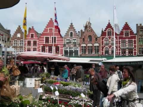 """Bruges Belgium is a beautiful Medieval city that is sometimes called the """"Venice of the North"""". This short film provides a quick overview of its beautiful canals, historic buildings, cathedrals and attractive city squares. - YouTube"""