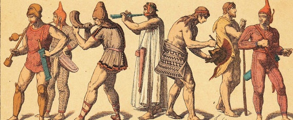 Ancient Greek  Chromolithograph Musicians Costumes and  Jobs by carambas, $18.00