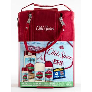 Old Spice Fiji Travel Bag Gift Set with Bonus Sports Illustrated Magazine Subscription $15.00