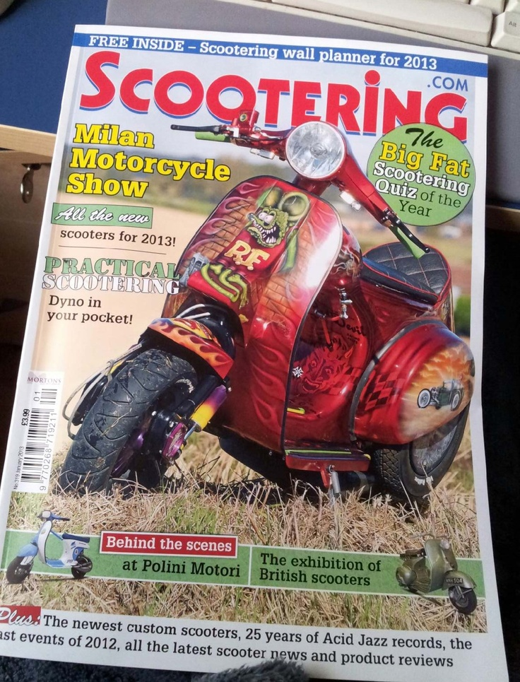 This is my customer scooter which made scootering january 2013 cover issue