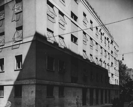 building in Rome used as Gestapo (secret state police) headquarters during the German occupation. This photograph was taken after U.S. forces liberated the city. Rome, Italy, June 1944.  — National Archives and Records Administration, College Park, Md.