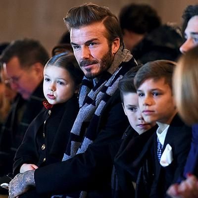Hot: David Beckham and His Adorable Kids Sit Front Row for Mom Victorias Latest FashionShow