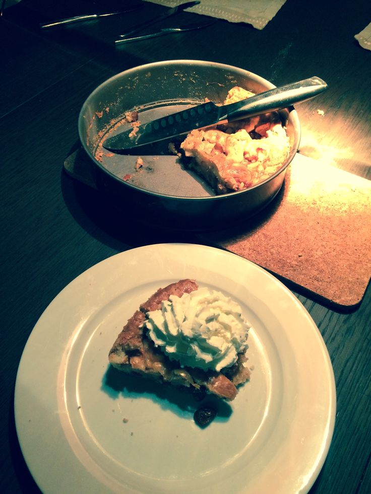 Classic Dutch apple pie & cream